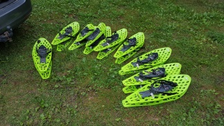 These are special shoes which reduce the possibility to sink into the swamp