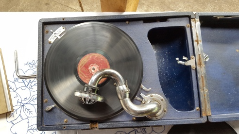 They had an old vinyl record