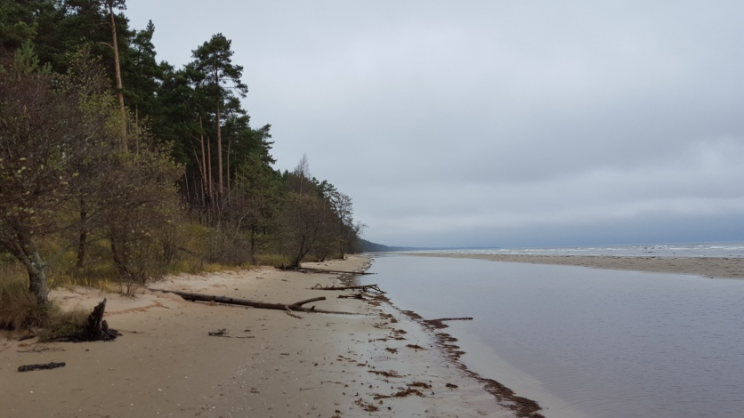 Following the coast line, at the end you can see where the Kolka is
