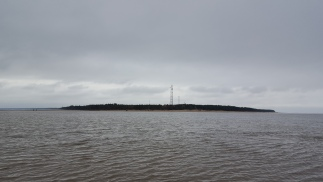 Kolka coast from the sea bank. That's how far we went in the sea!